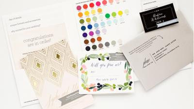 Free wedding invitation sample kit.