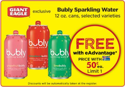 Free Bubly Sparkling Water