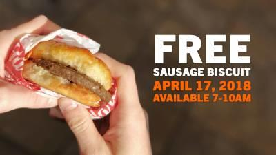 Free Sausage Biscuit From Hardees