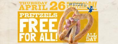 Free Wetzel's Pretzels On April 26th