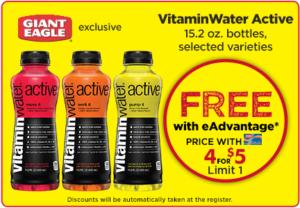 Free VitaminWater Active at Giant Eagle