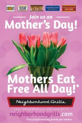 Free Meal For Moms From Neighborhood Grills