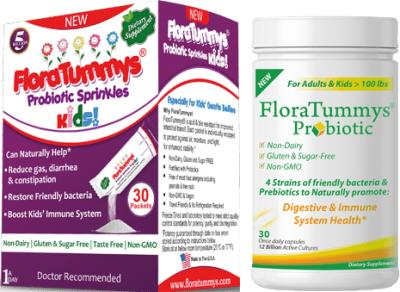 Free Sample of FloraTummys Sprinkles Power Packets for Kids