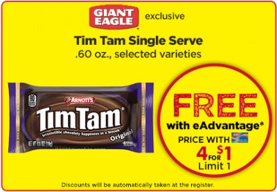 Free Tim Tams From Giant Eagle