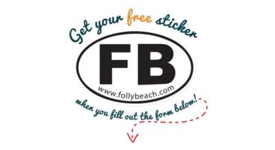 FREE Folly Beach Sticker
