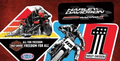 Free Stickers from Harley-Davidson® Racing
