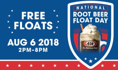 Free Floats at A&W on Aug 6