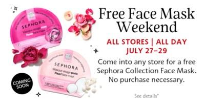 Sephora - Free Face Mask Weekend
