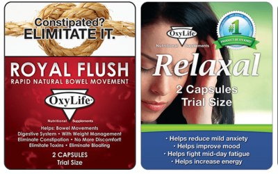 Free Sample of OxyLife Nutritional Supplements