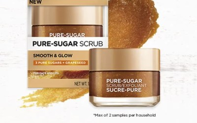 Free Samples of Pure Sugar Grape Seed Scrub from Loreal