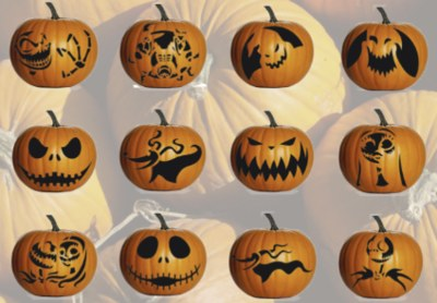 Tryspree free pumpkin carving template from disney