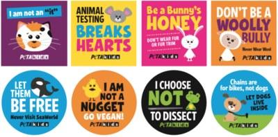 Free PETA No Animal Cruelty Stickers