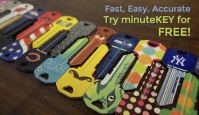 Free Key Made from minuteKEY Kiosk