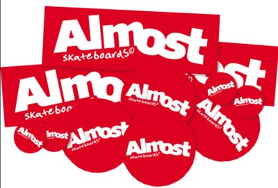 Free Stickers from Almost Skateboards