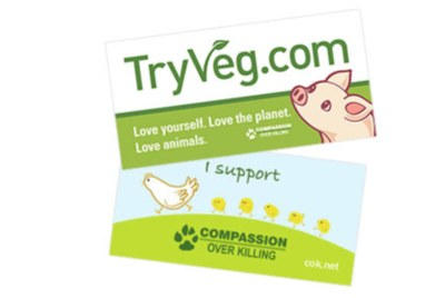 Free Bumper Sticker from TryVeg
