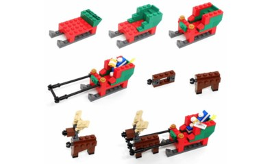Free Lego Reindeer Sleigh