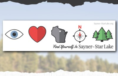 Free Bumper Sticker from Sayner-Star Lake