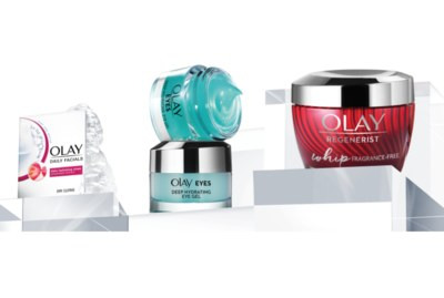 Free Bundle from Olay Including Whips, Hydrating Gel, and Facial Cloths