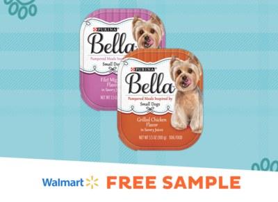 Free sample of Purina Bella Wet Dog Food at Walmart
