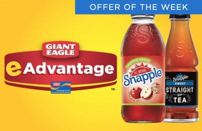 Free Snapple or Snapple Straight Up Tea