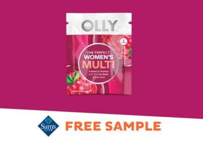 Free Sample of Olly Vitamins at Sam's Club