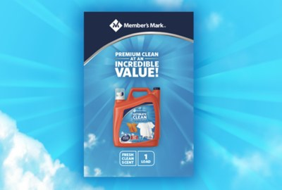 Free Sample of Member's Mark® Ultimate Clean Liquid Laundry Detergent