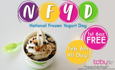 Get Free Froyo From TCBY on February 6th