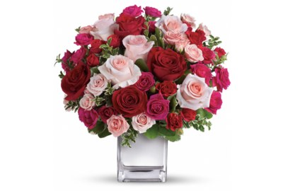 Win a Love Medley Bouquet with Red Roses through Teleflora