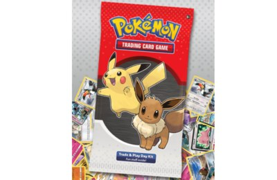 Free Pokémon Three-card Mini Pack, Activity Sheet, Coin and Guide.