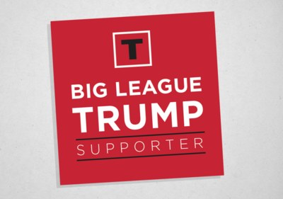 Free Big League Trump Supporter Sticker