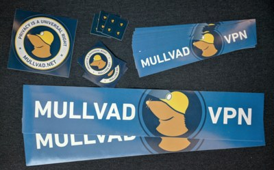 Free Stickers from Mullvad