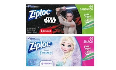 Free Sandwich Bags - Star Wars & Frozen Ziploc