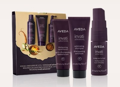 Free Sample Pack Invati 3-Step System from Aveda