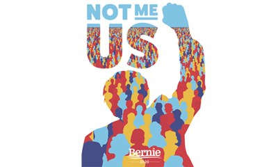 "Free ""Not me. Us."" Sticker"