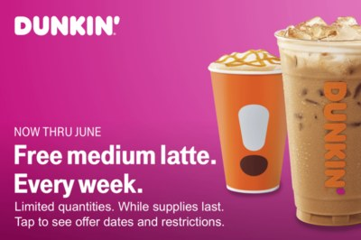 Free Dunkin Latte Every Week - T-Mobile Customers