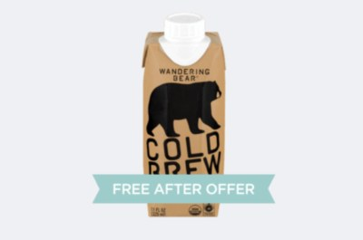 Free Wandering Bear® Cold Brew - After Rebate