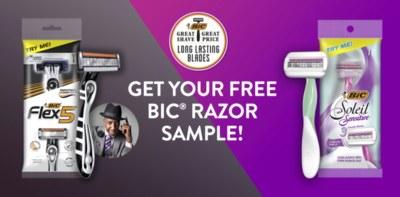 Free Bic Razor for Men or Women