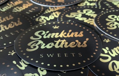 Free Stickers from Simkins Brothers' Sweets