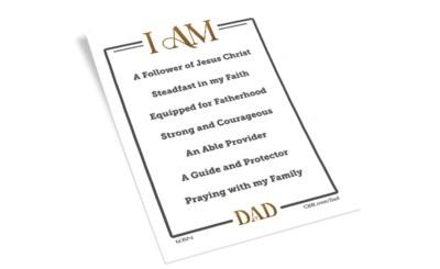 """Free """"I Am Dad"""" Mirror Cling"""