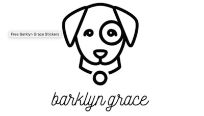 Free Stickers from Barklyn Grace