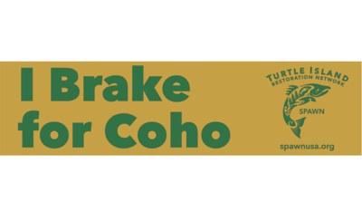 Free 'I Brake for Coho' Sticker