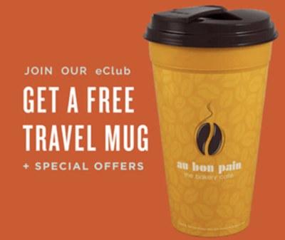 Au Bon Pain - Free Travel Mug