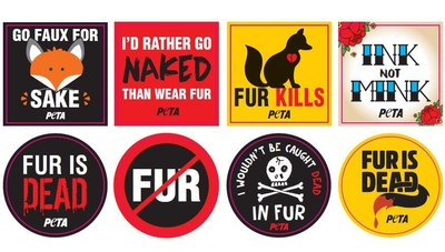 Fur Is Dead Stickers and Leaflets for Free!