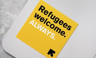 Refugees Welcome Sticker for Free