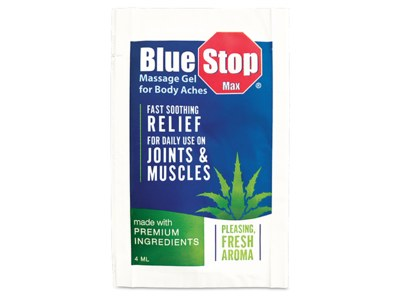 Blue Stop Max Massage Gel for Free