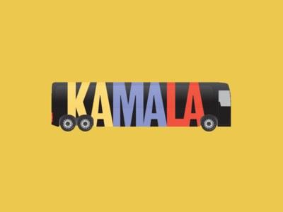 Kamala Harris Bus Sticker for Free