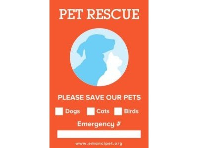 Save Our Pets Window Cling for Free