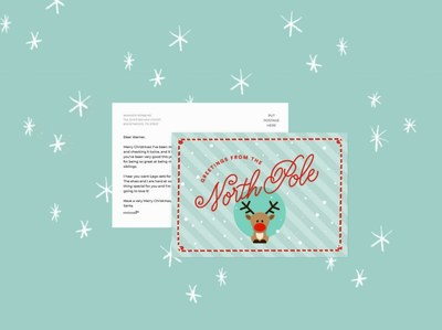 Personalized Postcards from Santa for Free
