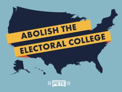 Abolish the Electoral College Sticker for Free