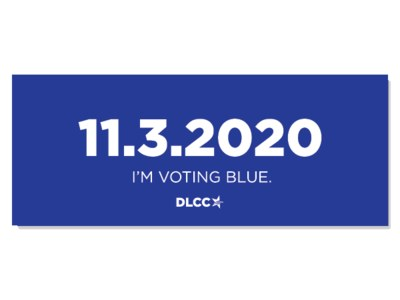 11.3.2020 I'm Voting Blue Sticker for Free